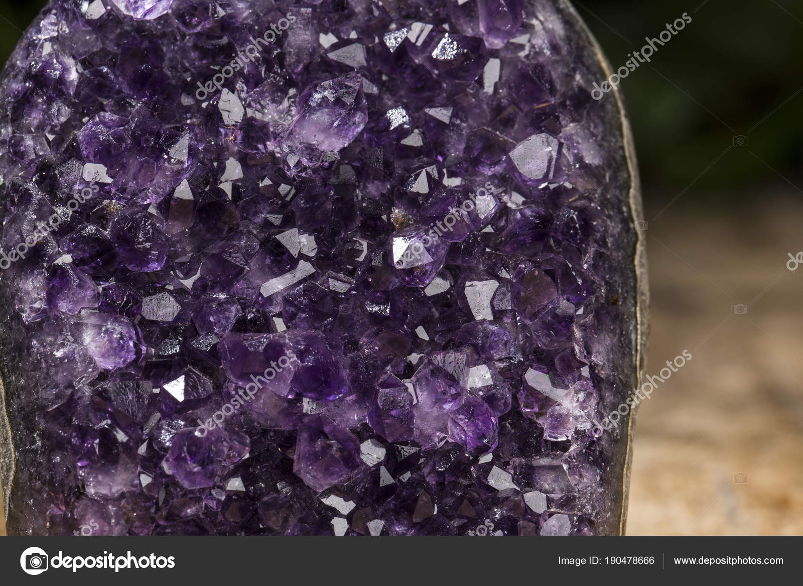 Amethyst geode on black background  Beautiful natural crystals