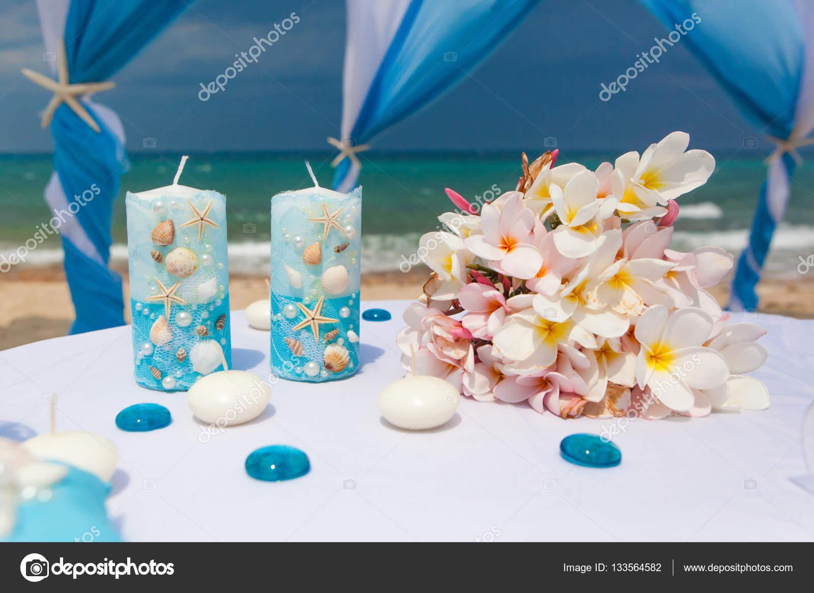Matrimonio Spiaggia Decorazioni : Decorazioni per il matrimonio in spiaggia u foto stock