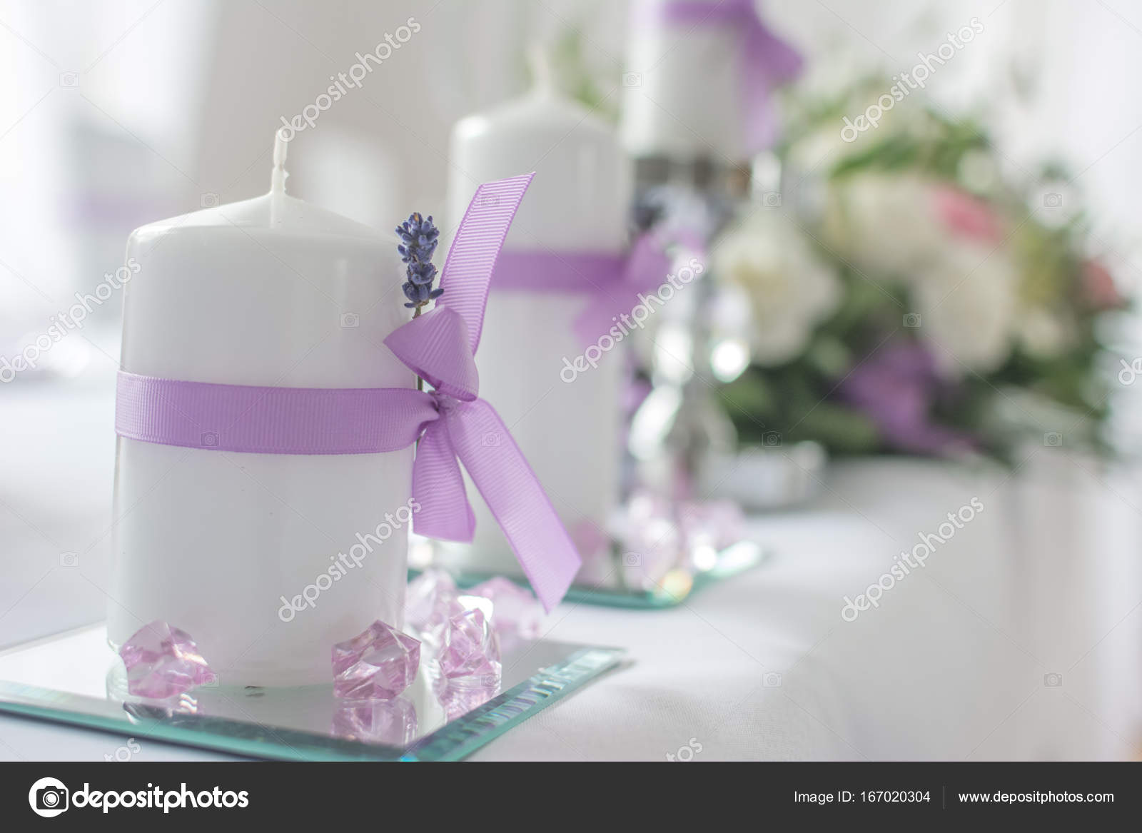 Wedding decoration candles and flowers in a background blur wedding decoration candles and flowers in a background blur fotografia de stock junglespirit Choice Image