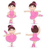Sada izolované dívka baletka