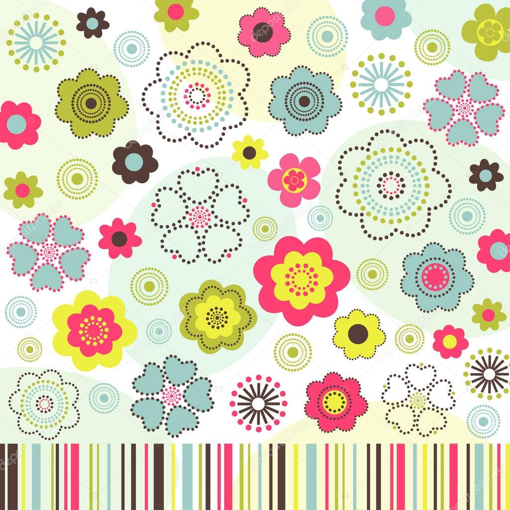 colorful flower background