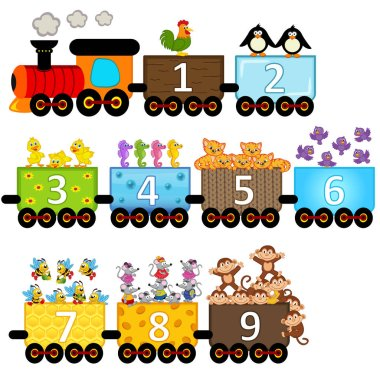 train with number of animals