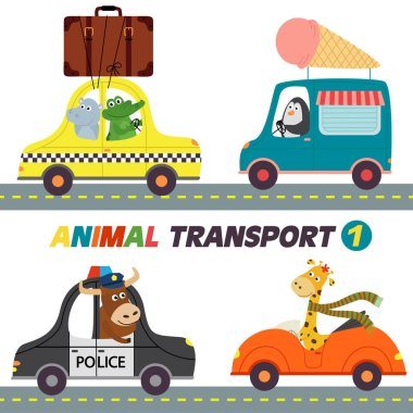 set of isolated transports with animals part 1
