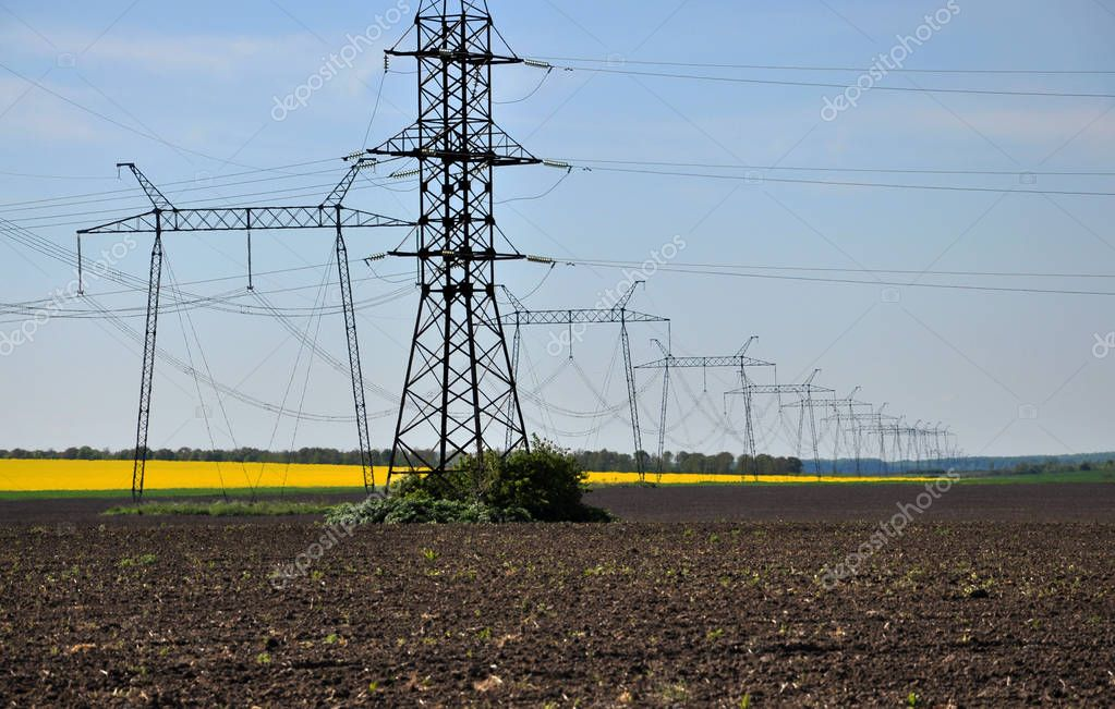 High-voltage line of electric gears