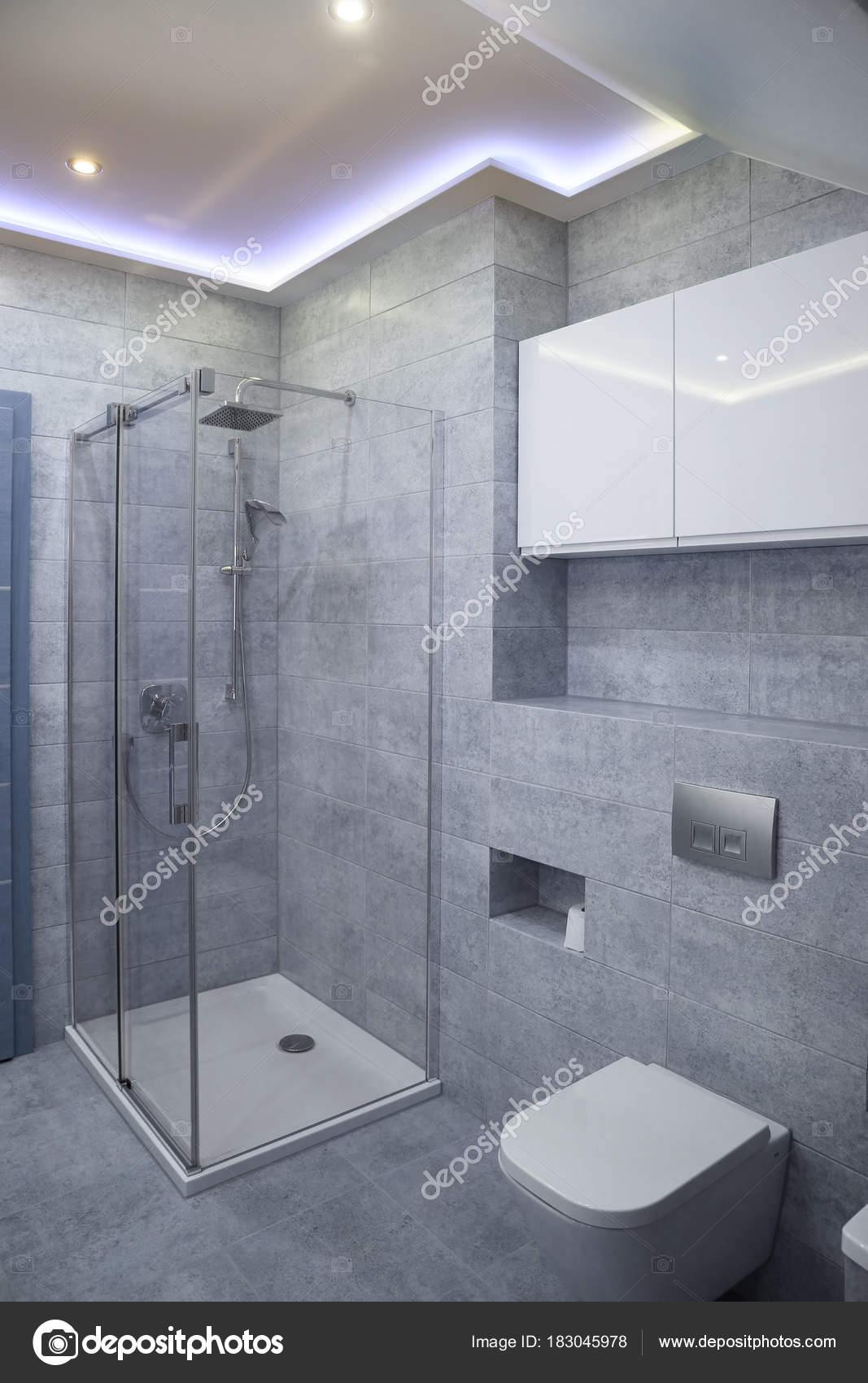 New Bathroom Style Grey Stock Photo, New Bathroom Style