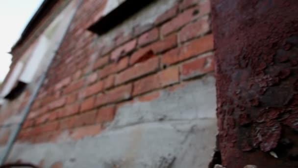 Ville De La Russie Extérieur D Une Vieille Maison Résidentielle De Deux étages Mur Avec Peinture Fissuré Hd