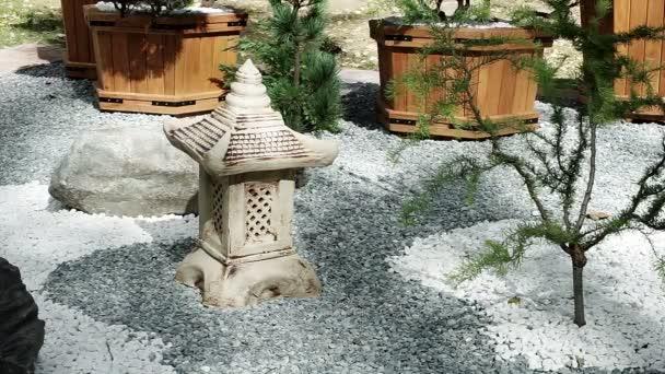 Aménagement paysager. Décoration pour le jardin. La pierre figure ...