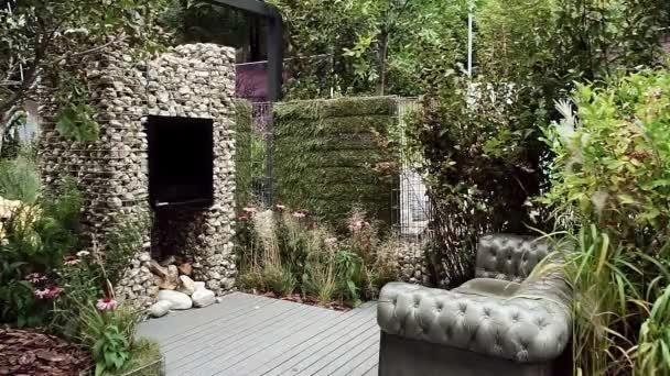 Tuin Open Haard : Decoratie voor de tuin installatie stenen open haard bank van