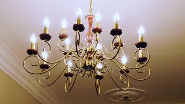 Vintage lighting lamps with light bulbs. 4K