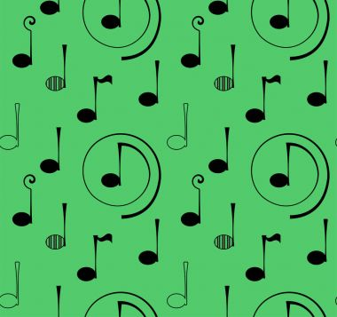 Seamless pattern note music