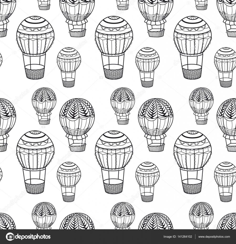 Sıcak Hava Balon Seamless Modeli Stok Vektör Dorolka 141264102