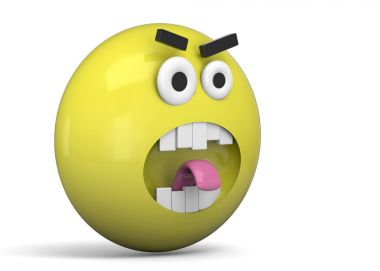 Angry Emoticon - 3D
