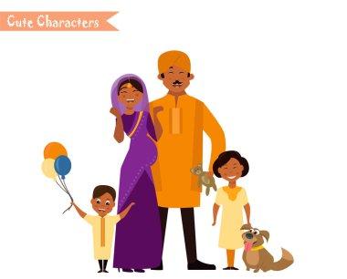 Big happy indian family