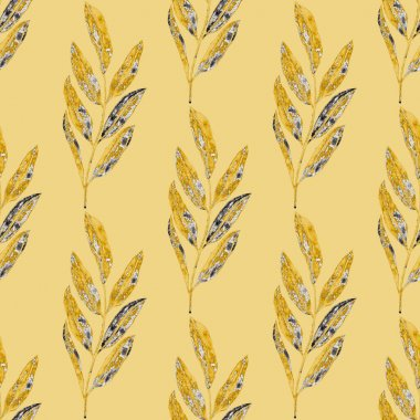 Retro watercolor seamless pattern with flowers and leaves, great design for any purposes. Elegant floral fashion print. Vintage summer or spring surface design. Trendy textile decoration.