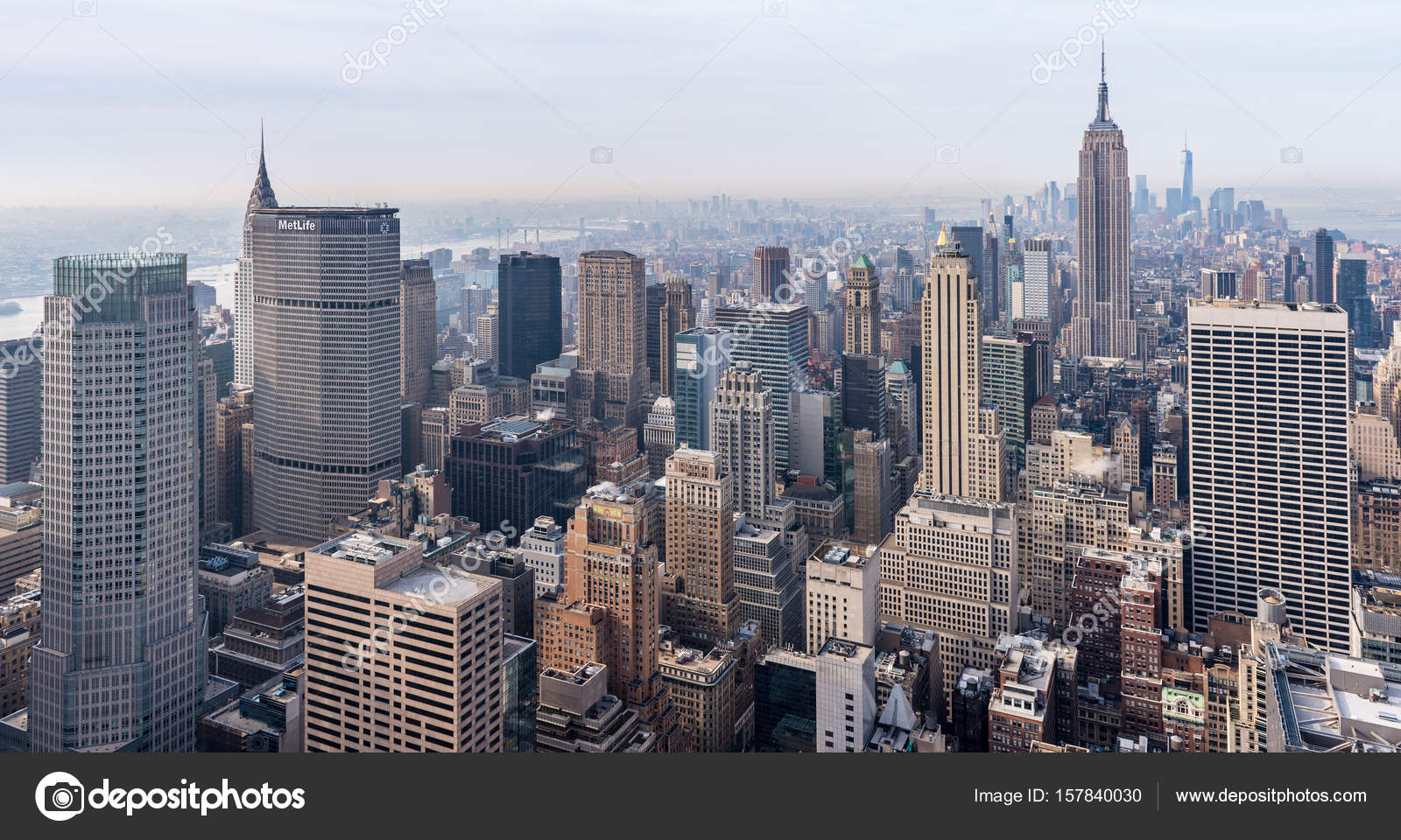 New York City Usa View Of Manhattan From Rockefeller Center