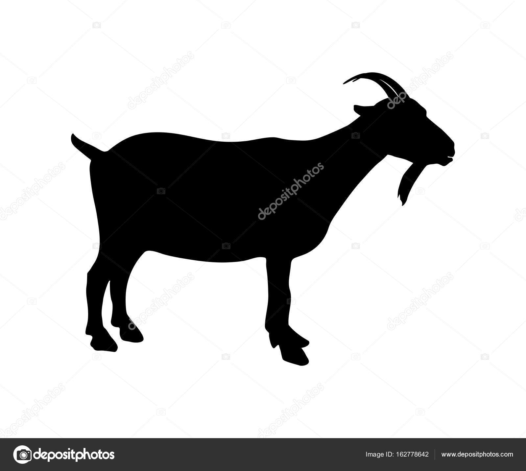 Goat Icon Black Silhouette Stock Vector C Fancy Tapis Gmail Com