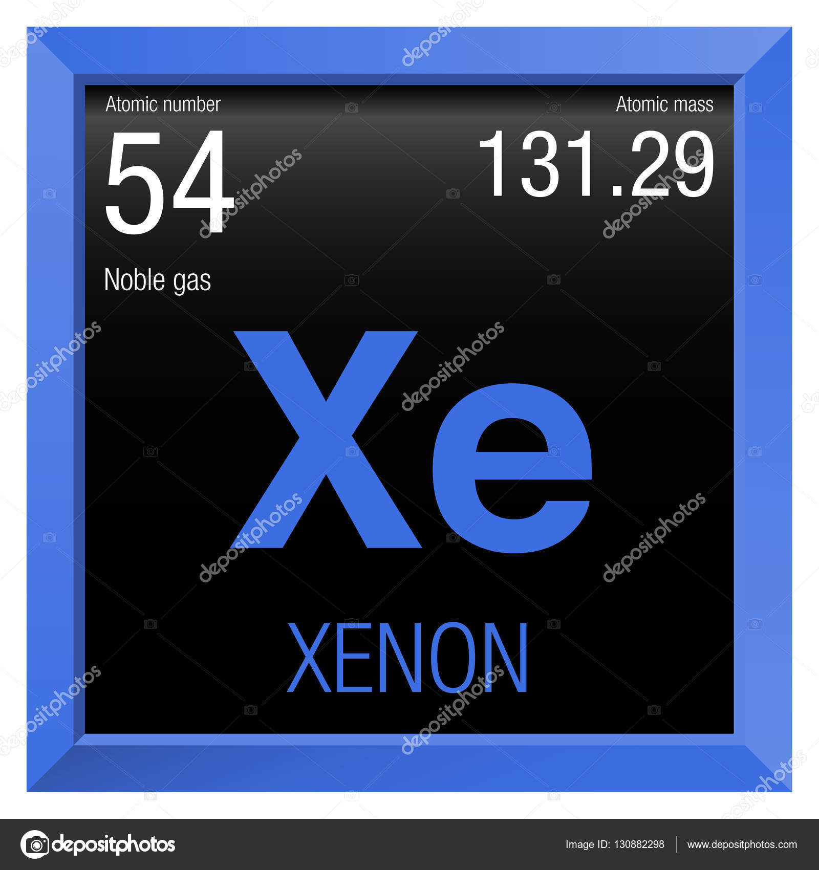 Xenon symbol element number 54 of the periodic table of the element number 54 of the periodic table of the elements chemistry gamestrikefo Choice Image
