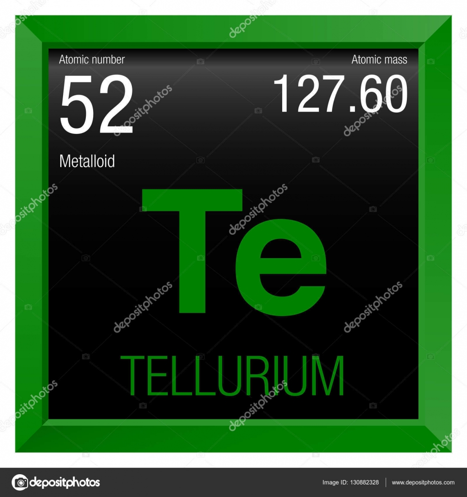Tellurium symbol element number 52 of the periodic table of the element number 52 of the periodic table of the elements chemistry gamestrikefo Gallery