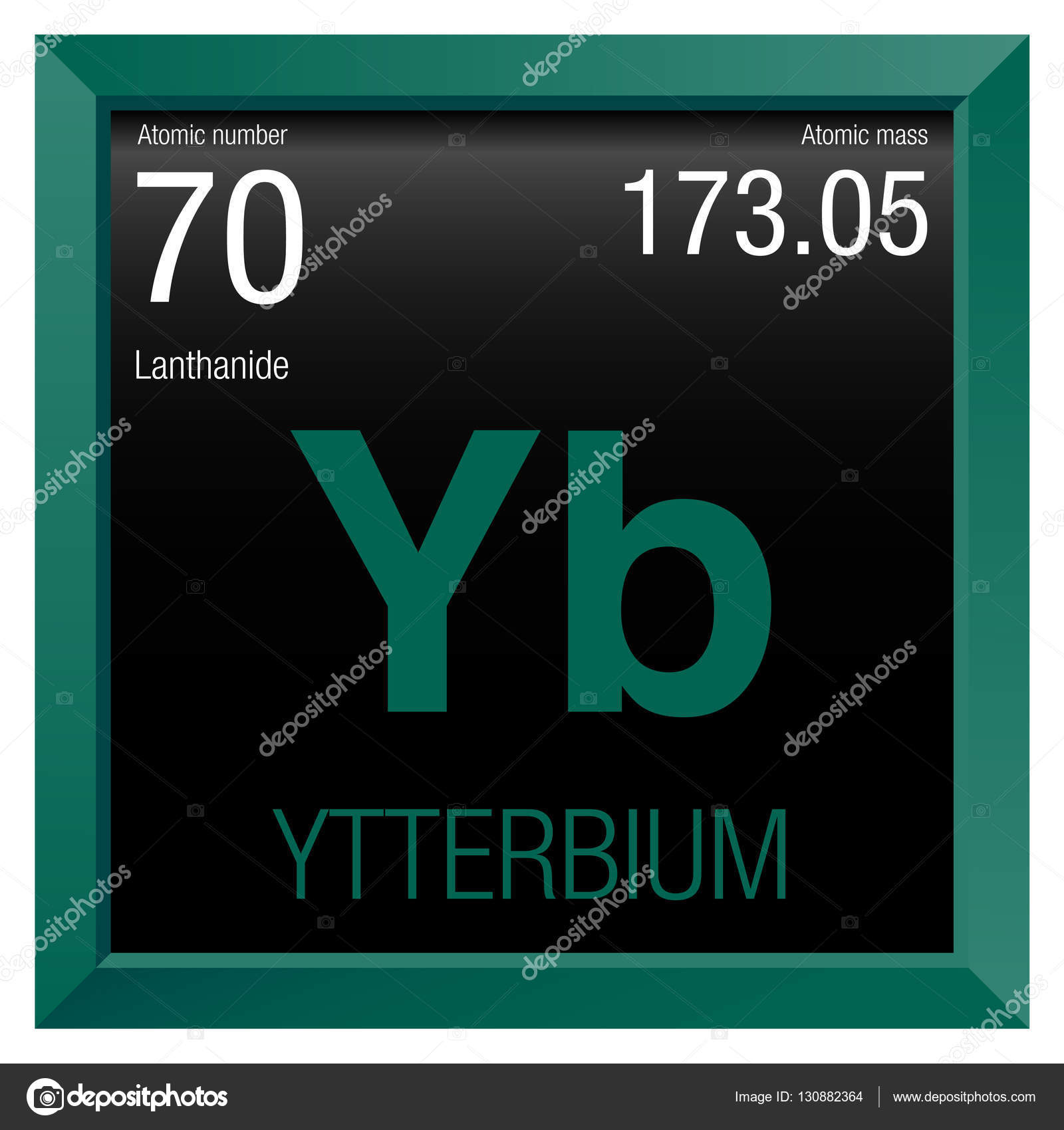 Ytterbium Symbol Element Number 70 Of The Periodic Table Of The