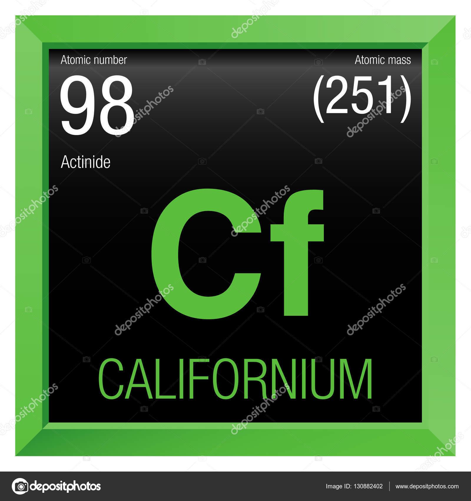 Californium symbol element number 98 of the periodic table of the californium symbol element number 98 of the periodic table of the elements chemistry gamestrikefo Images