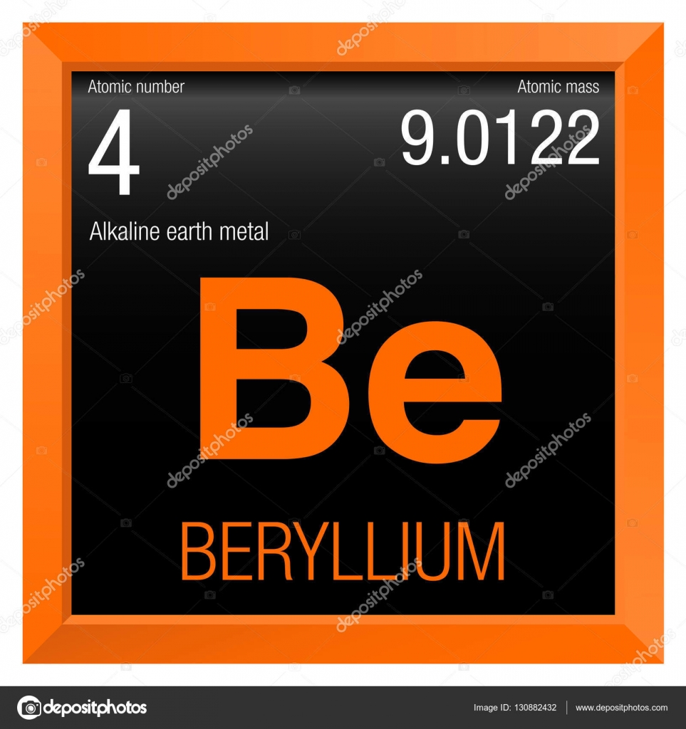 Beryllium symbol element number 4 of the periodic table of the beryllium symbol element number 4 of the periodic table of the elements chemistry urtaz
