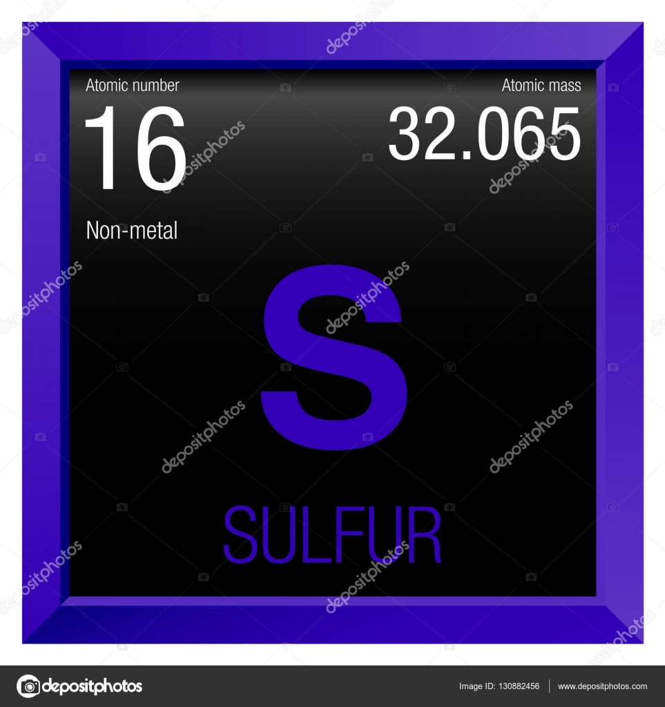 Sulfur symbol element number 16 of the periodic table of the element number 16 of the periodic table of the elements chemistry urtaz Images