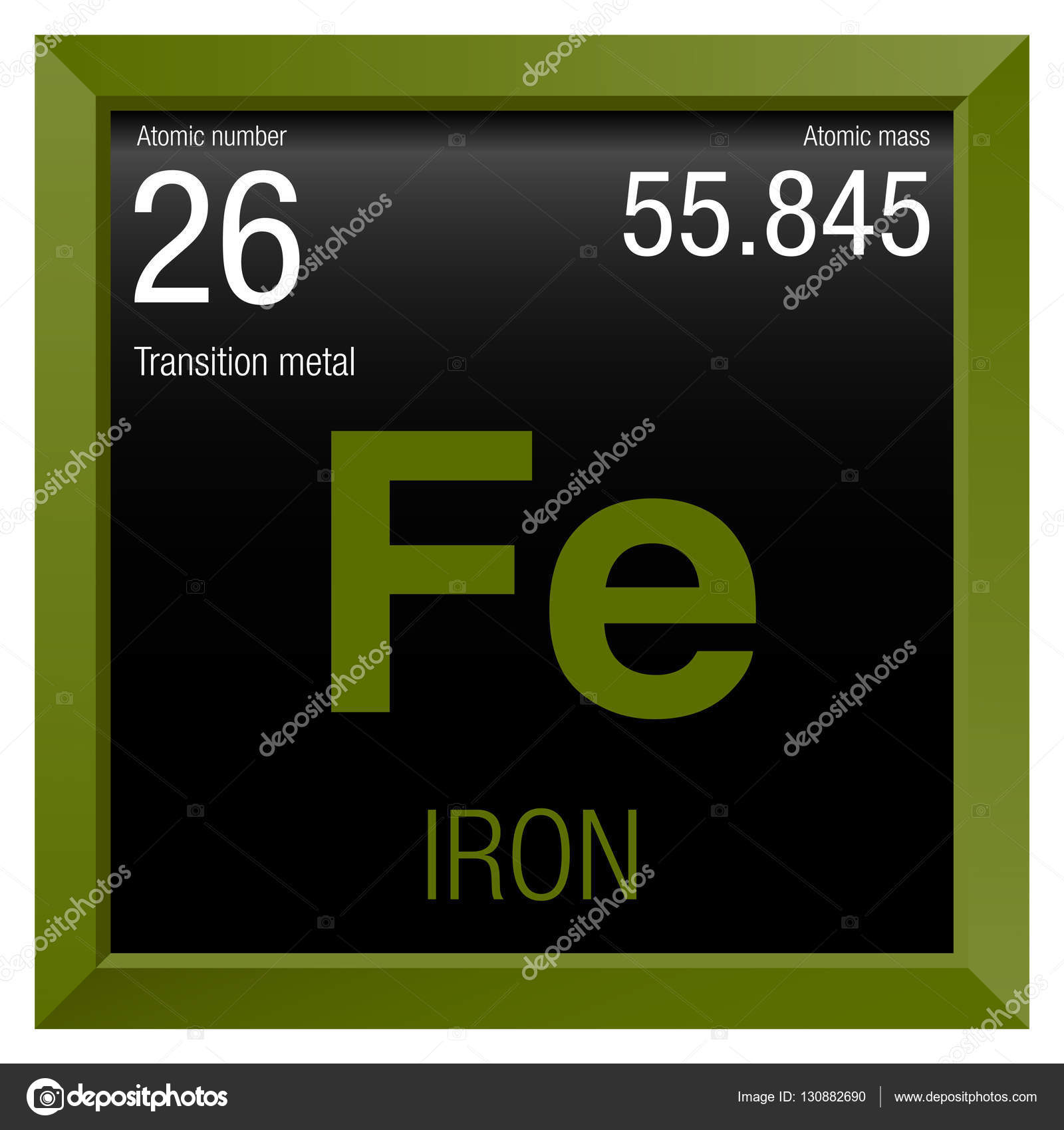 Iron symbol element number 26 of the periodic table of the elements iron symbol element number 26 of the periodic table of the elements chemistry urtaz Images