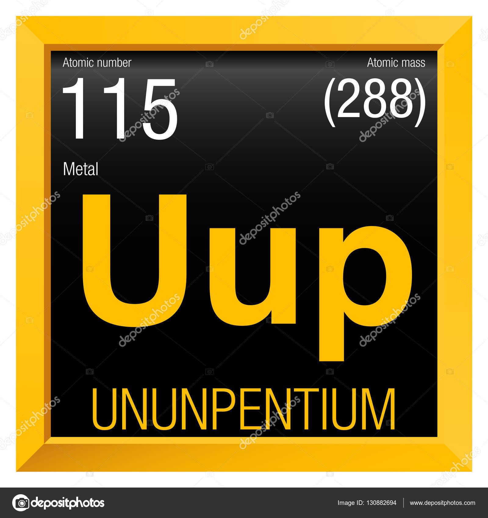 ununpentium symbol element number 115 of the periodic table of the elements chemistry - Periodic Table Symbol Ununquadium