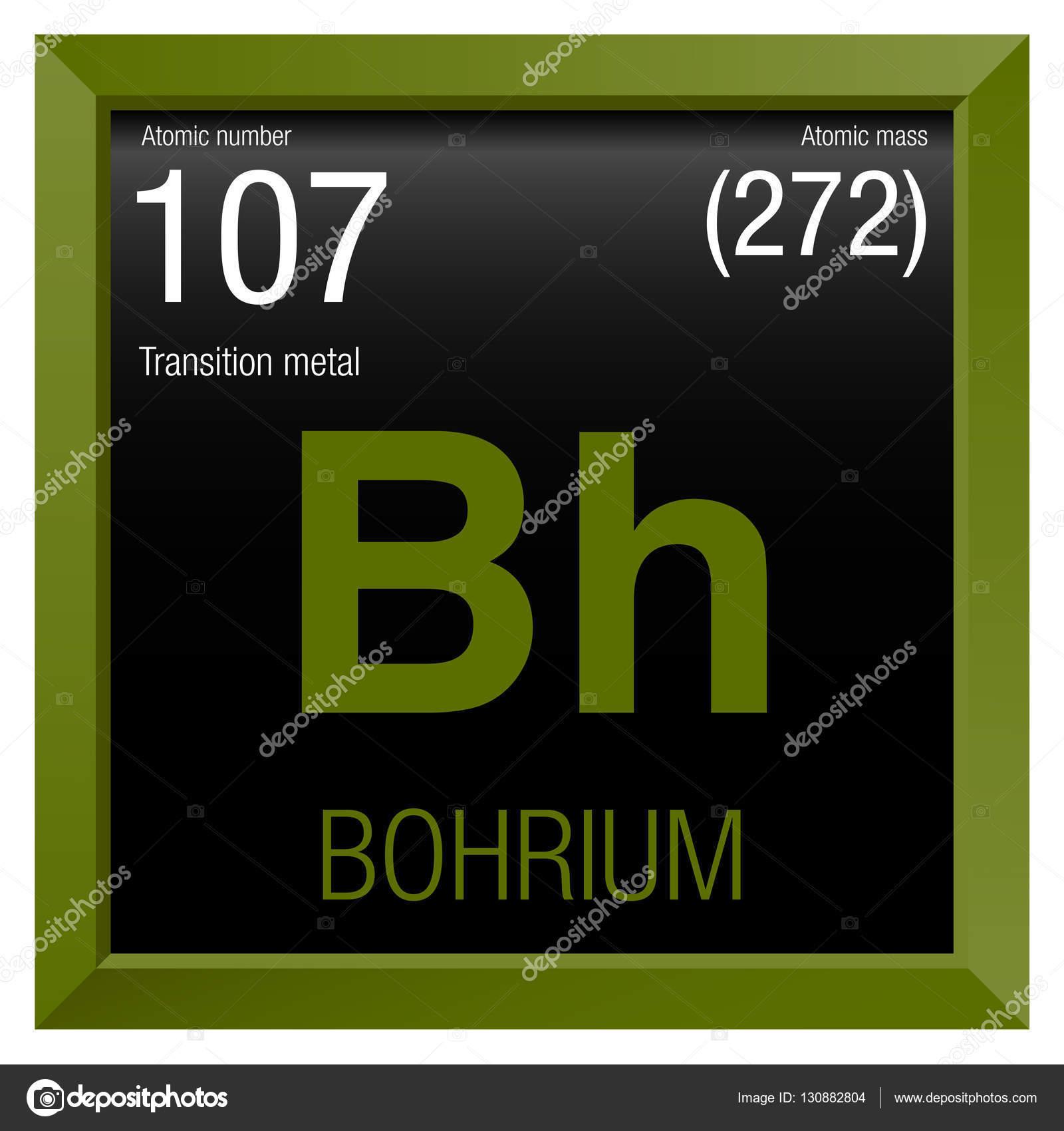 Bohrium symbol element number 107 of the periodic table of the bohrium symbol element number 107 of the periodic table of the elements chemistry urtaz Choice Image