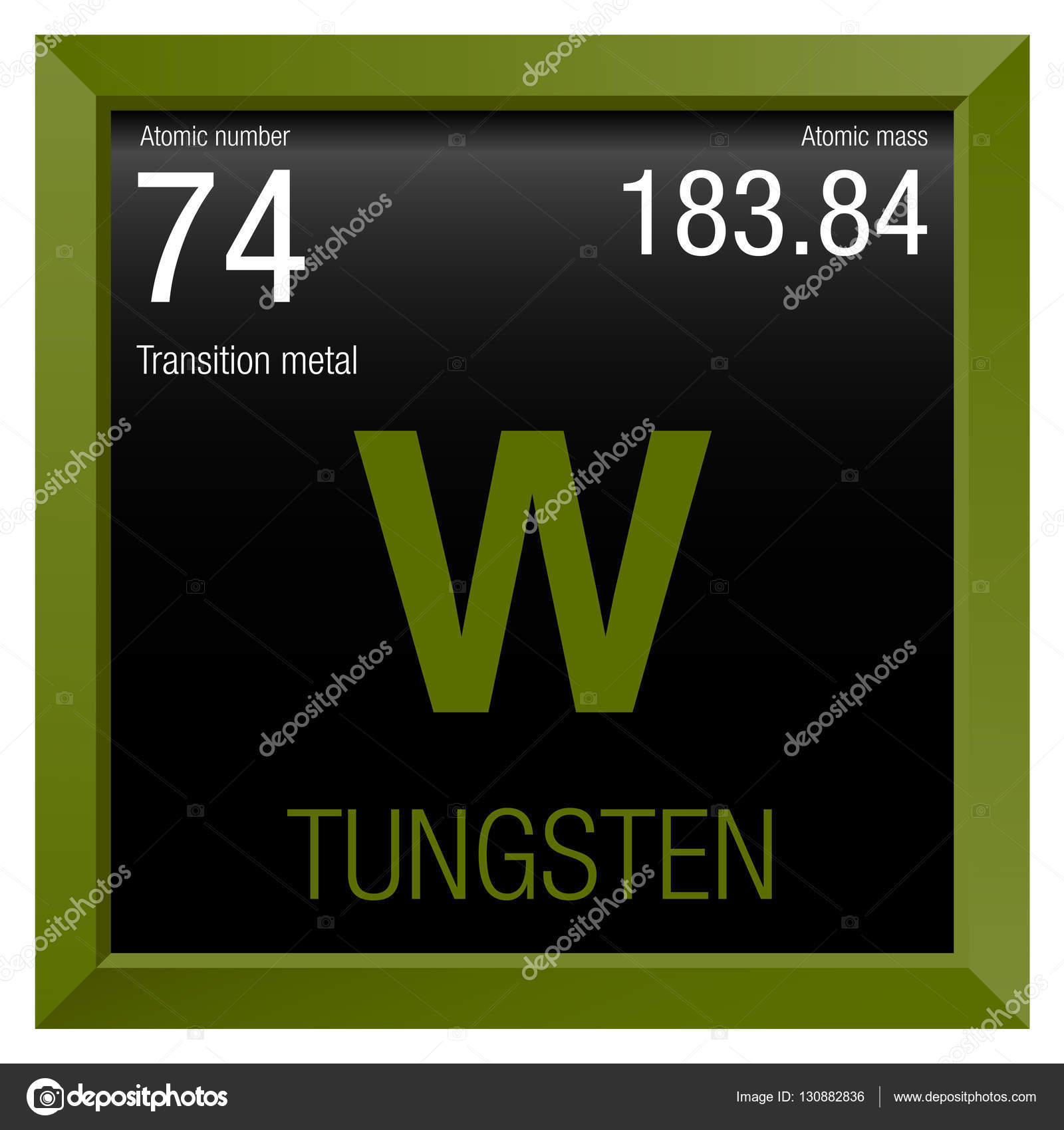 Atomic symbol tungsten image collections symbols and - Tungsten symbol periodic table ...