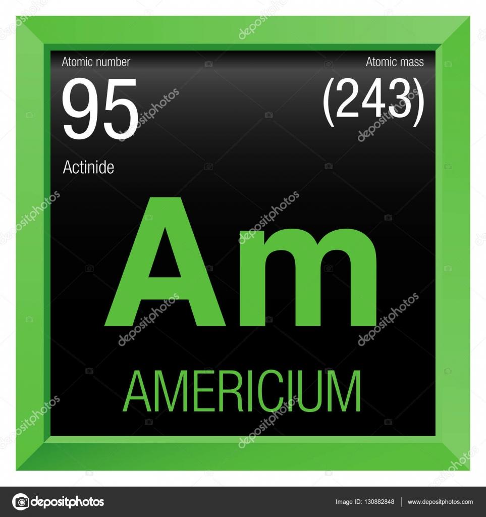 Smbolo del americio elemento nmero 95 de la tabla peridica de elemento nmero 95 de la tabla peridica de los elementos qumica urtaz Choice Image