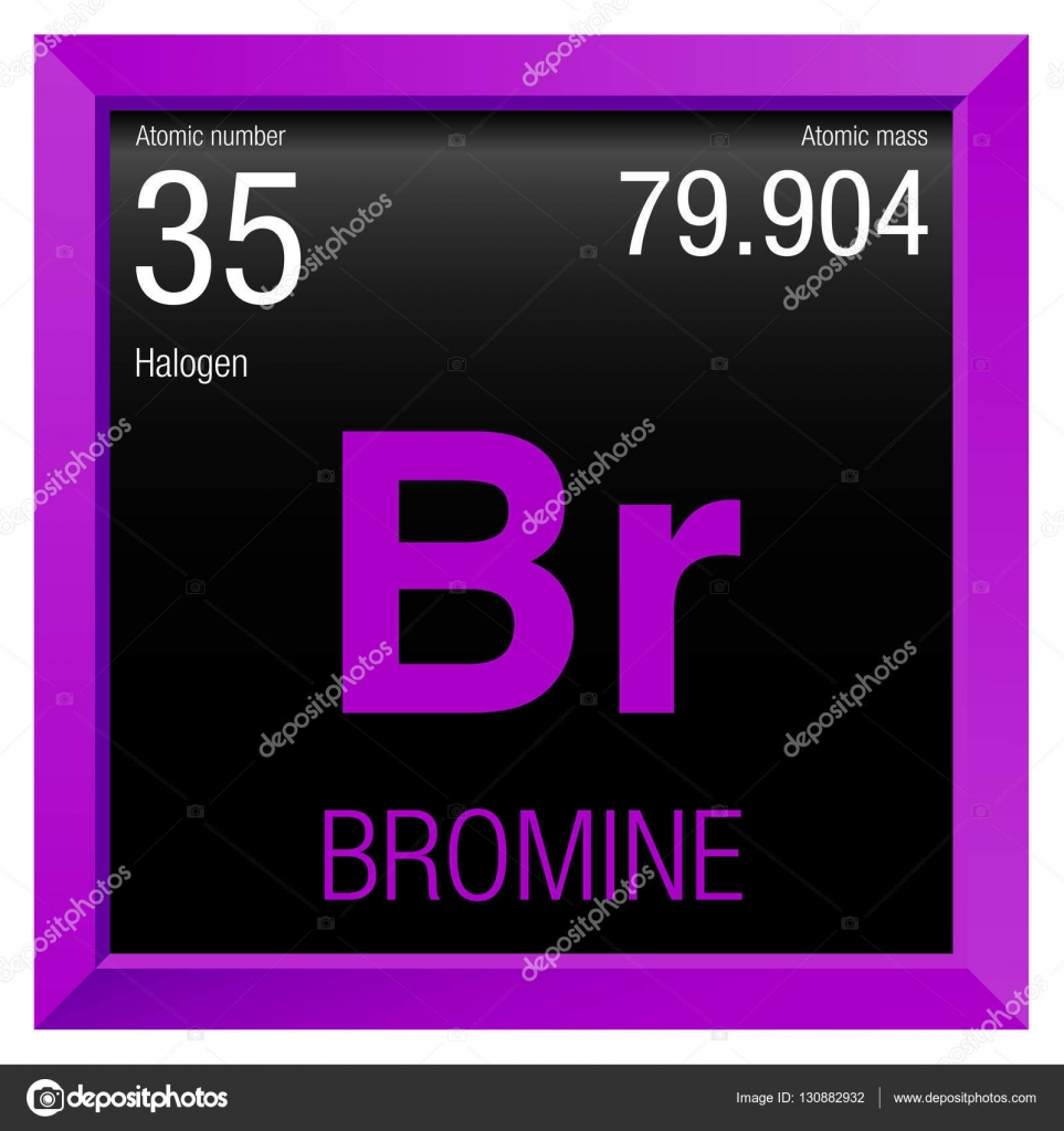 Bromine symbol element number 35 of the periodic table of the bromine symbol element number 35 of the periodic table of the elements chemistry gamestrikefo Gallery