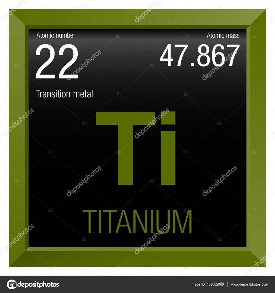 Titanium Symbol. Element Number 22 Of The Periodic Table Of The Elements    Chemistry