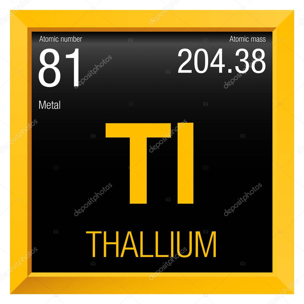 a chemical analysis of the element thallium tl atomic number 81