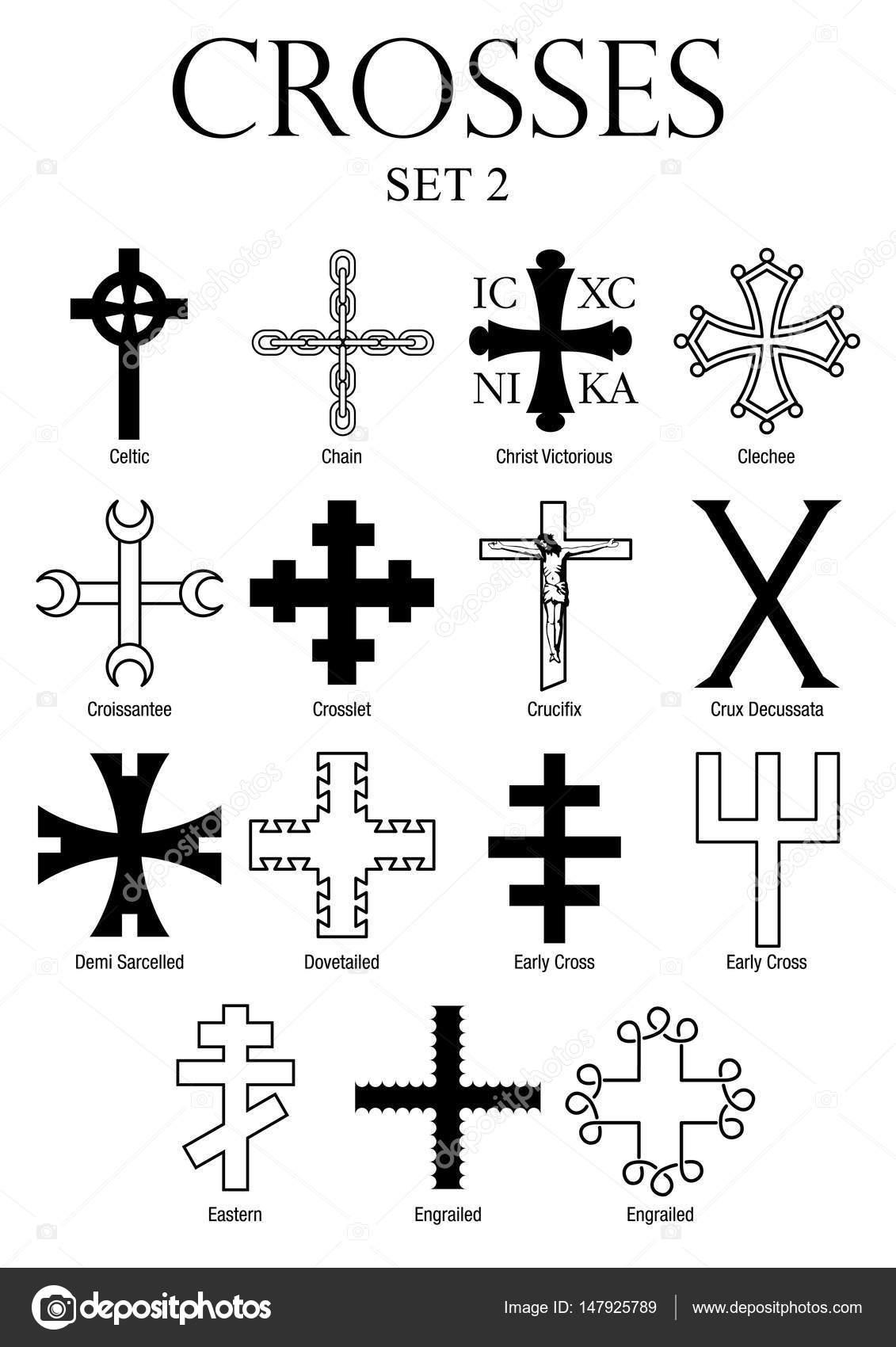 Tipos De Cruces fondo: nombres con | juego de cruces con nombres sobre fondo blanco