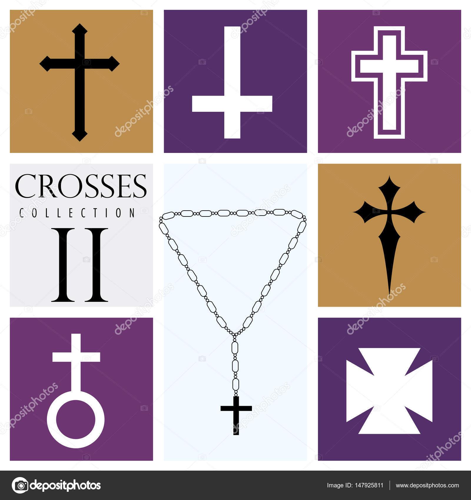 Tipos De Cruces imágenes: tipos de cruz cristiana | conjunto de diferentes tipos de