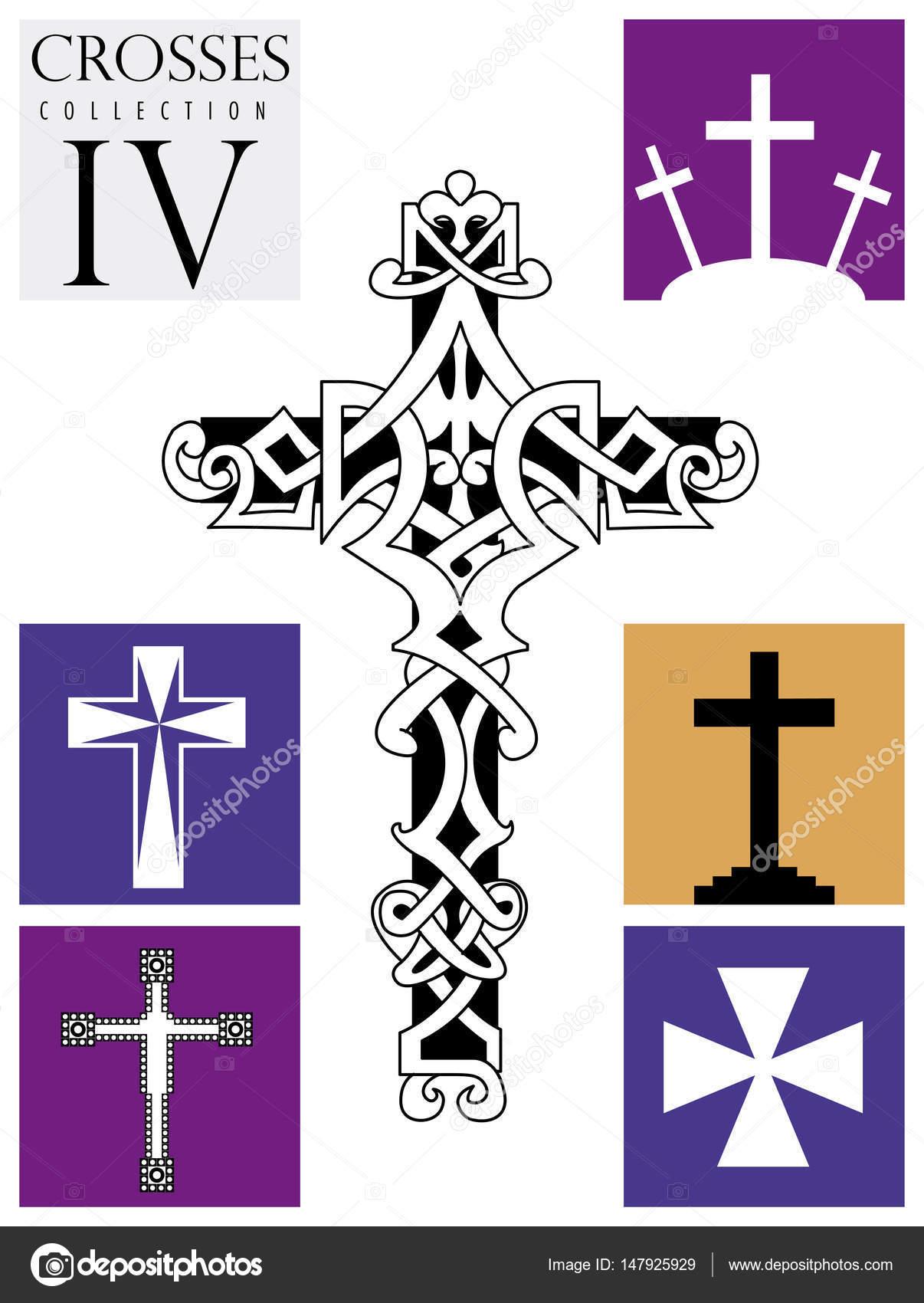 Imágenes Tipos De Cruces Religiosas Catolicas Conjunto De