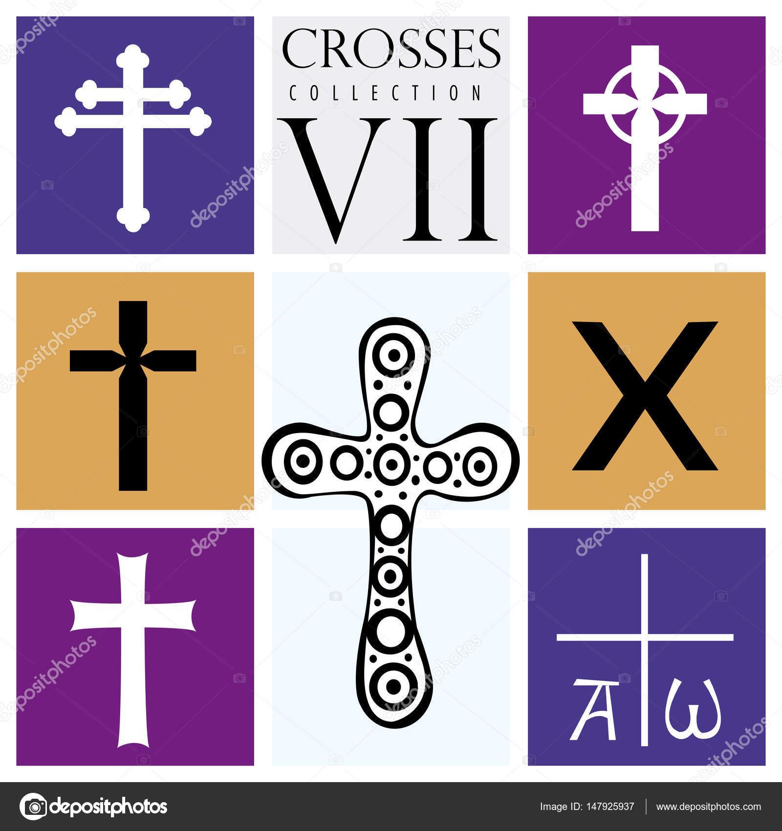 Fotos Tipos Cruces Catolicas Conjunto De Diferentes Tipos De
