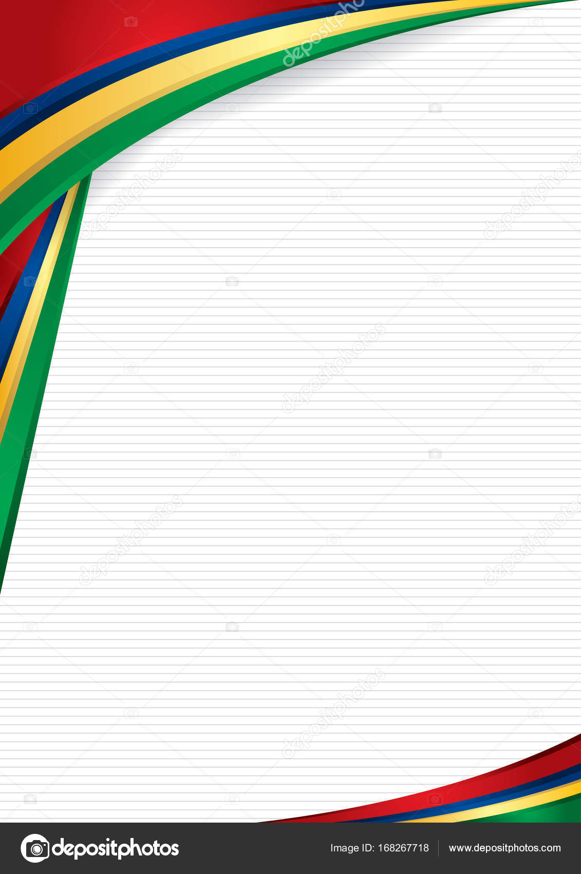 Abstract Background With Shapes With The Colors Of The Flag Of Mauritius To Use As Diploma Or Certificate Format A4 Vector Image Vector Image By Alejomiranda Vector Stock 168267718