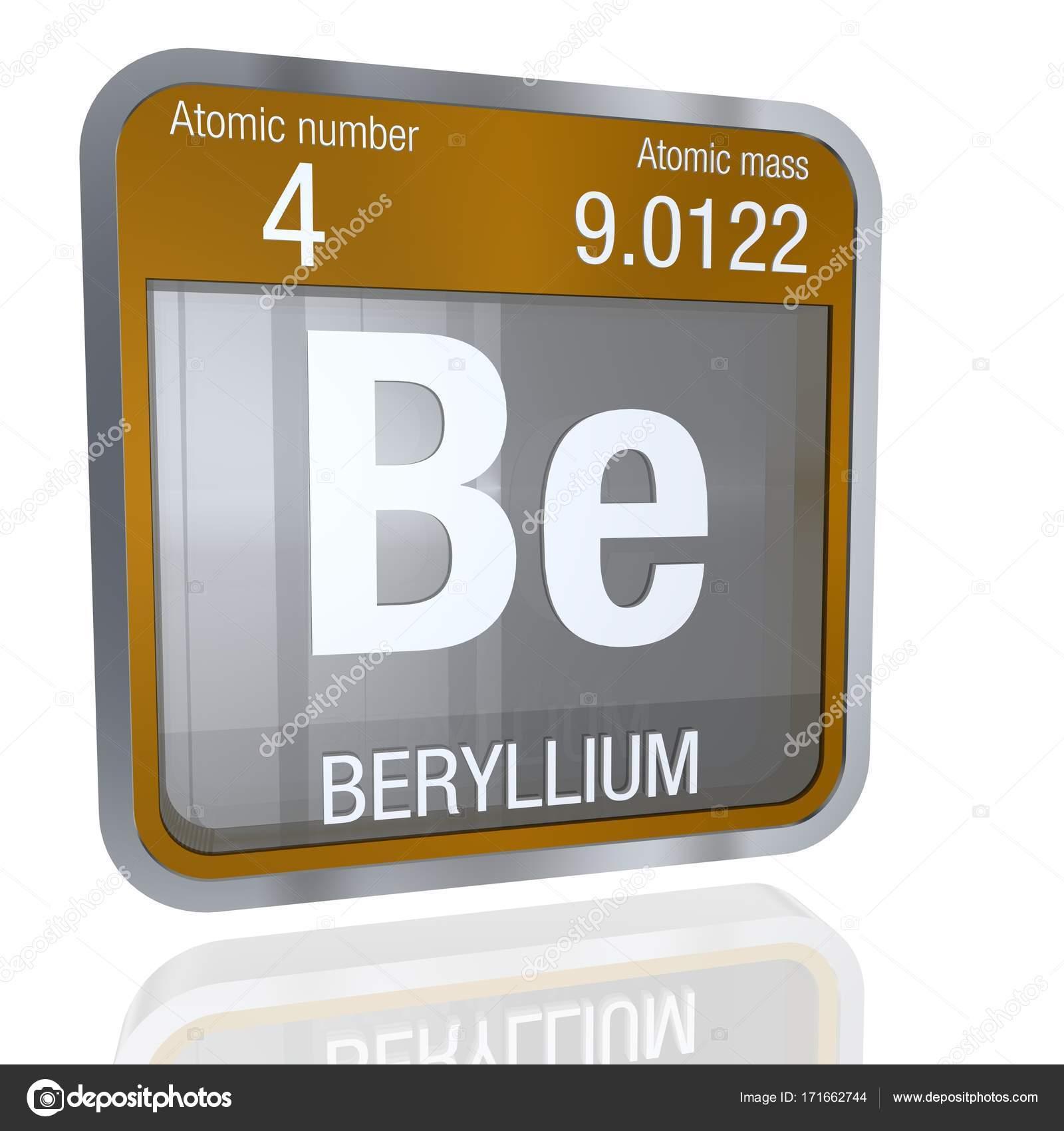 Smbolo de berilio en forma cuadrada con borde metlico y fondo elemento nmero 4 de la tabla peridica de los elementos qumica foto de alejomiranda urtaz Choice Image