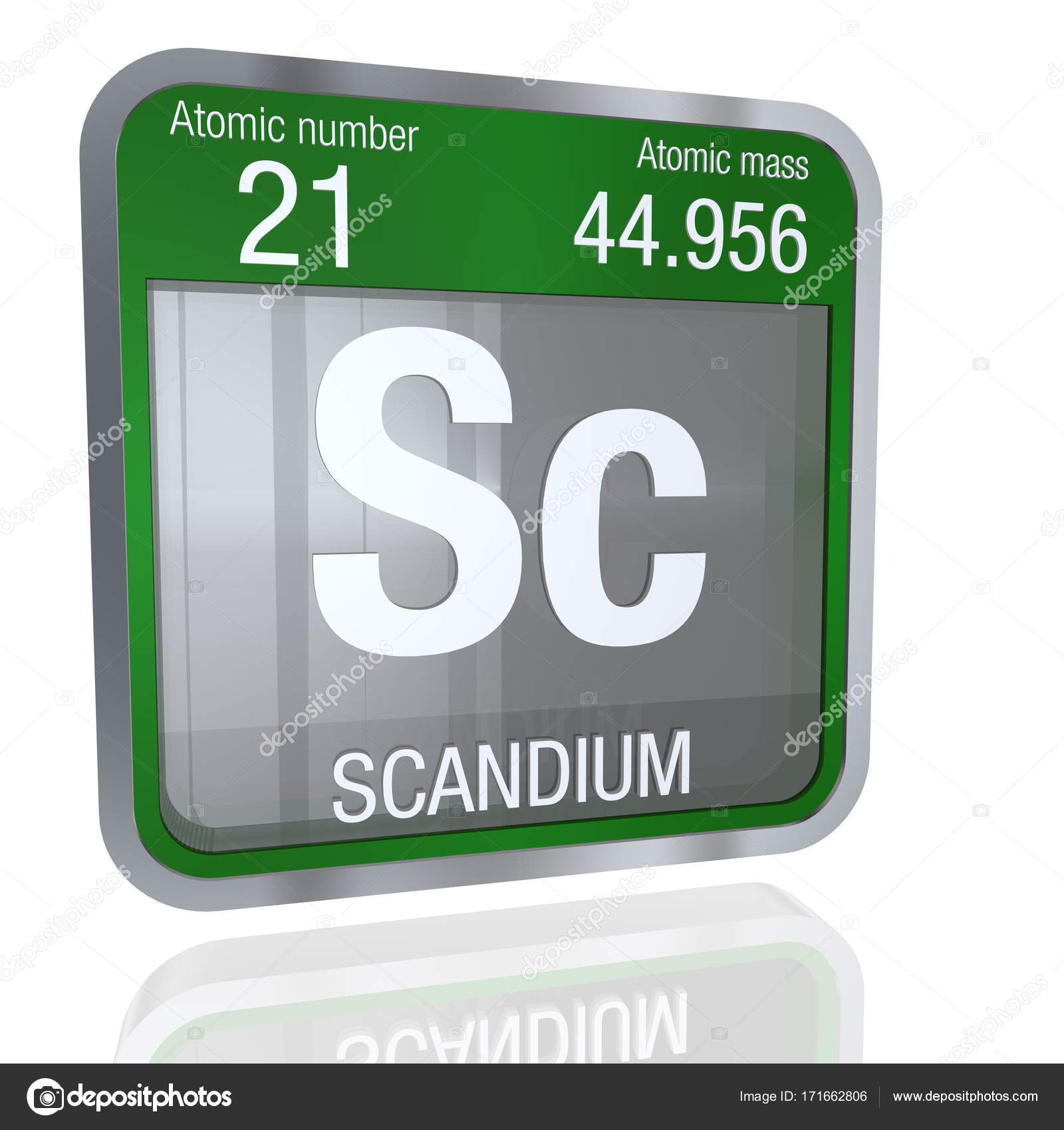 Scandium symbol in square shape with metallic border and element number 21 of the periodic table of the elements chemistry photo by alejomiranda gamestrikefo Images