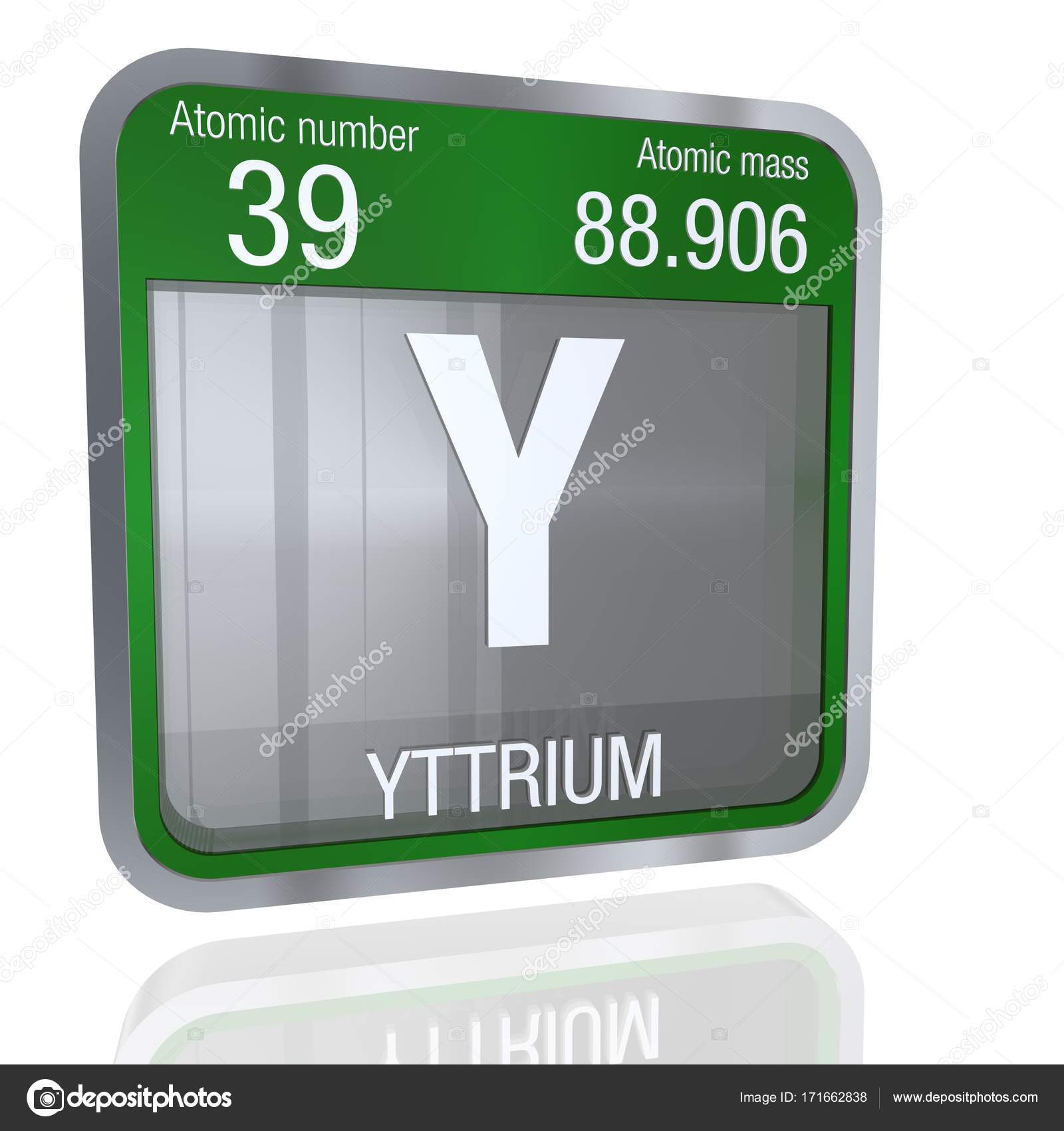 Yttrium symbol in square shape with metallic border and transparent element number 39 of the periodic table of the elements chemistry photo by alejomiranda urtaz Image collections