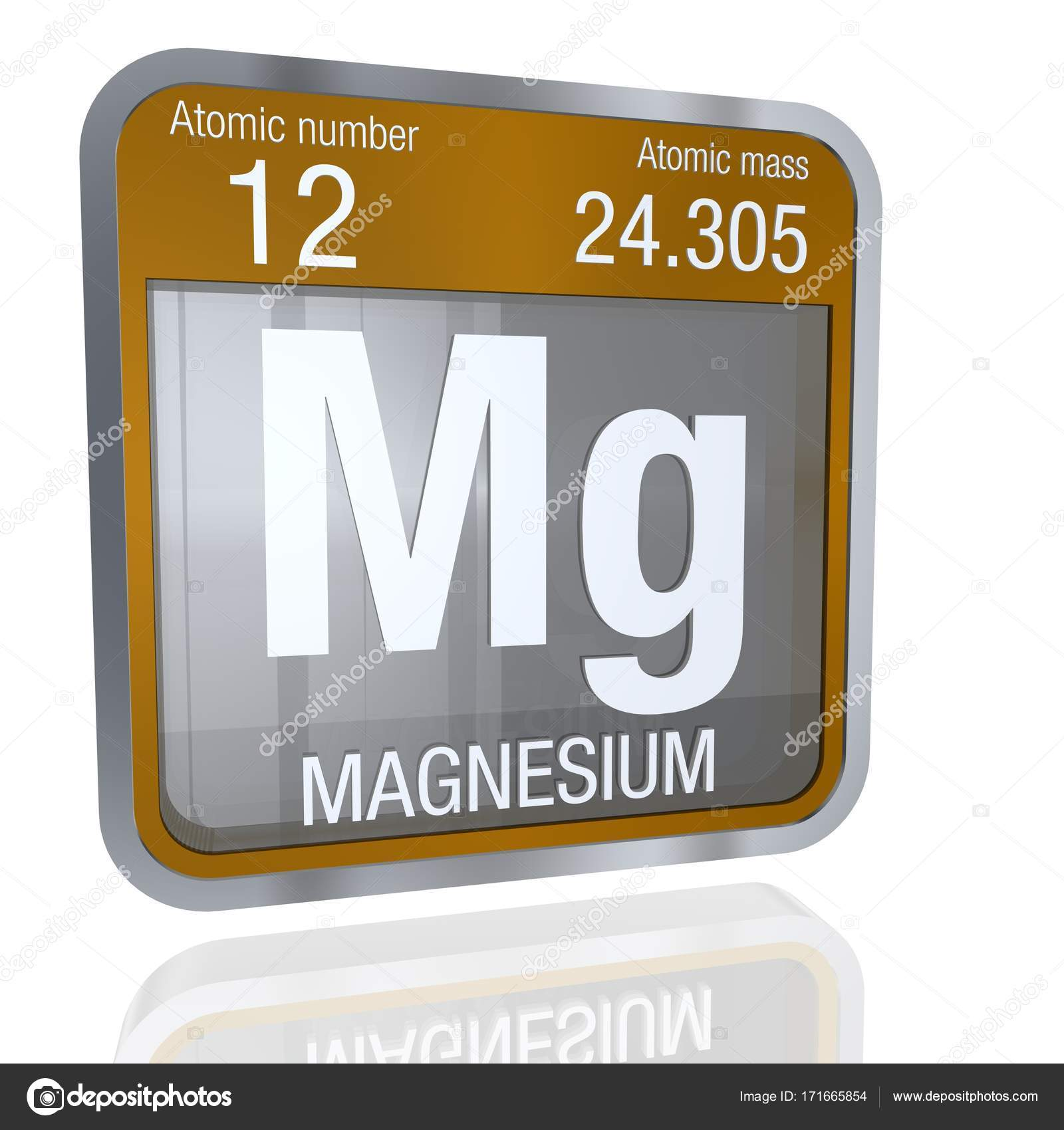 Magnesium symbol in square shape with metallic border and element number 12 of the periodic table of the elements chemistry photo by alejomiranda urtaz Gallery
