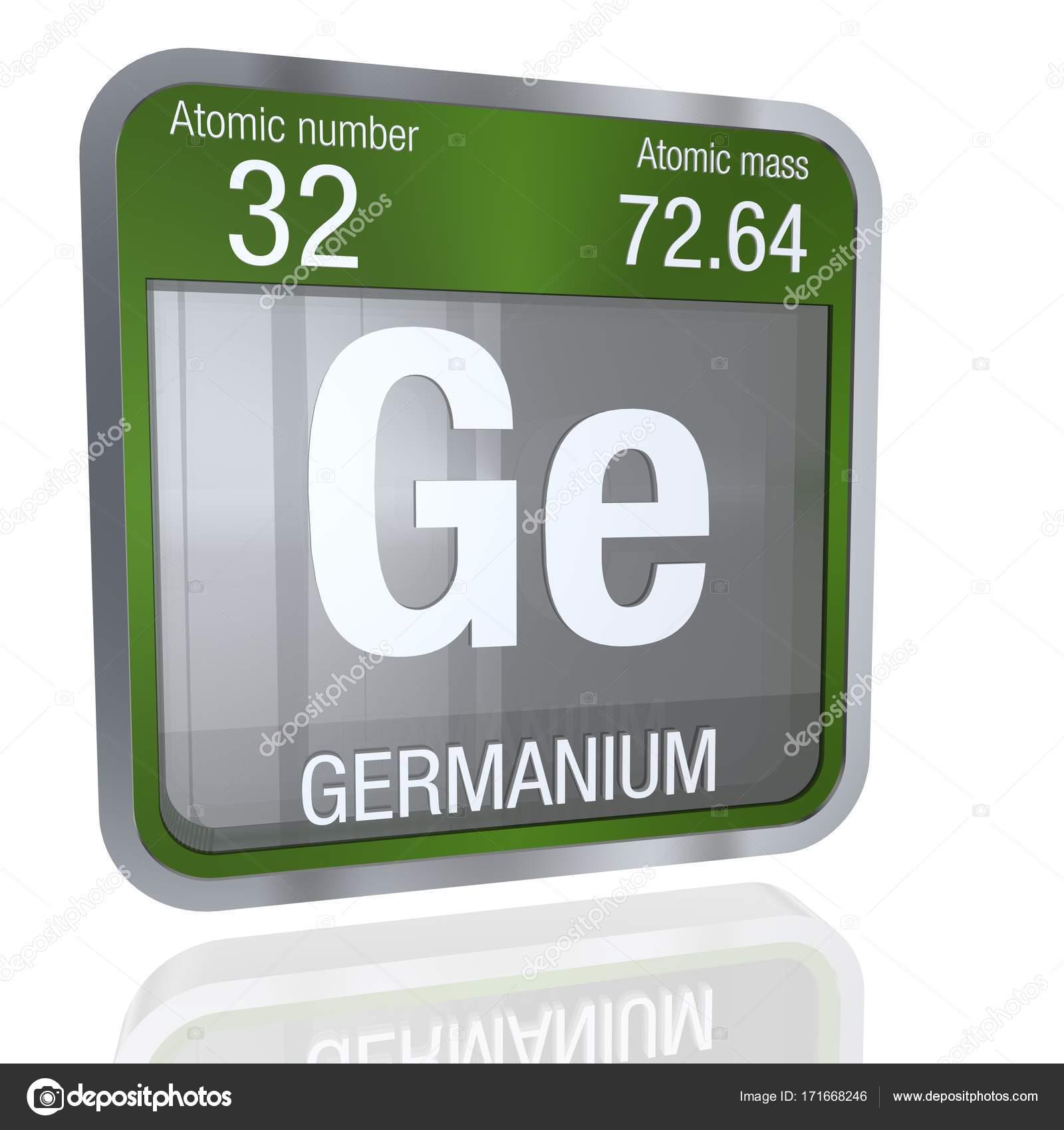 Smbolo del germanio en forma cuadrada con borde metlico y fondo elemento nmero 32 de la tabla peridica de los elementos qumica foto de alejomiranda urtaz Gallery