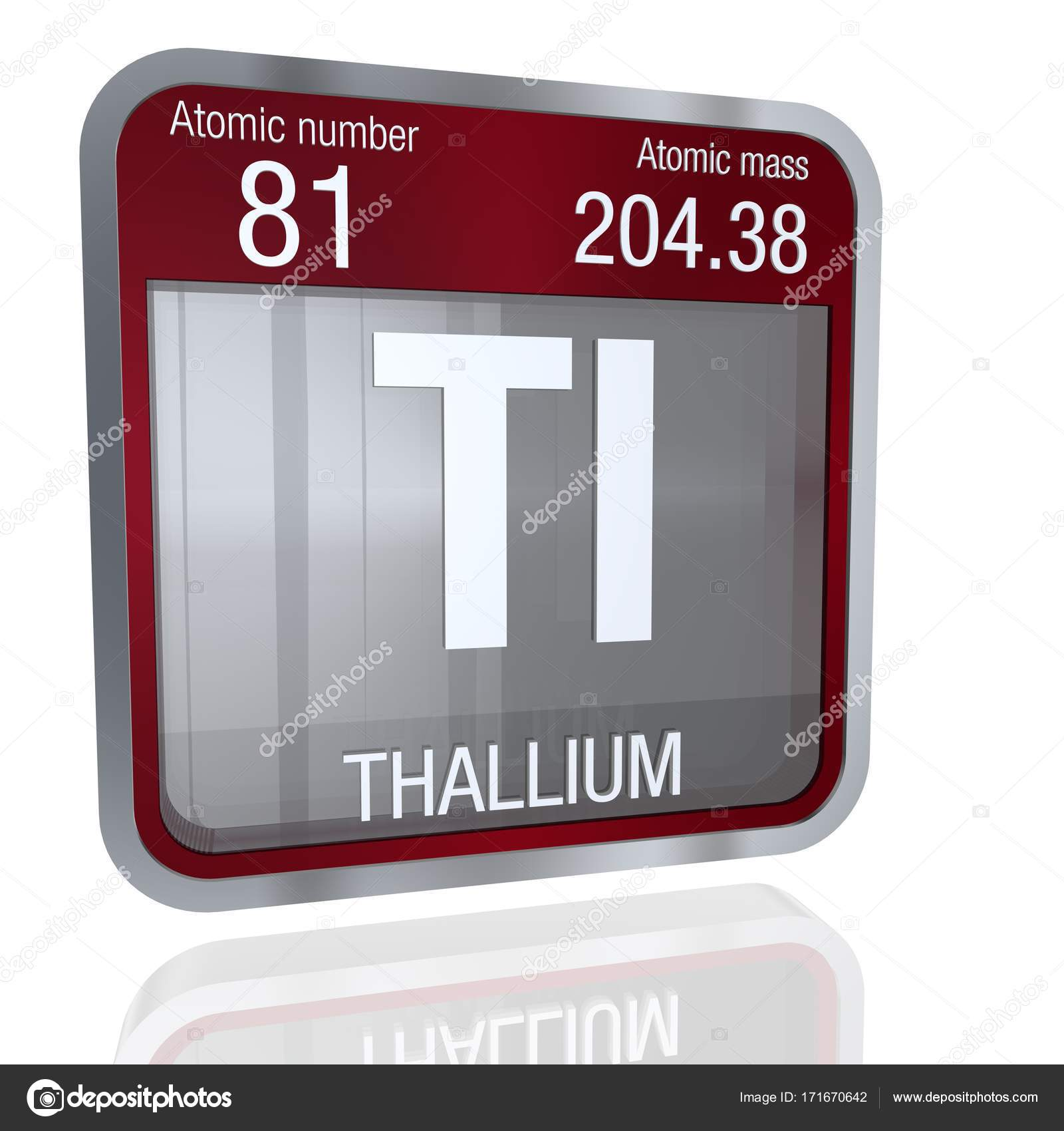 Thallium symbol in square shape with metallic border and transparent thallium symbol in square shape with metallic border and transparent background with reflection on the floor 3d render element number 81 of the periodic urtaz Choice Image