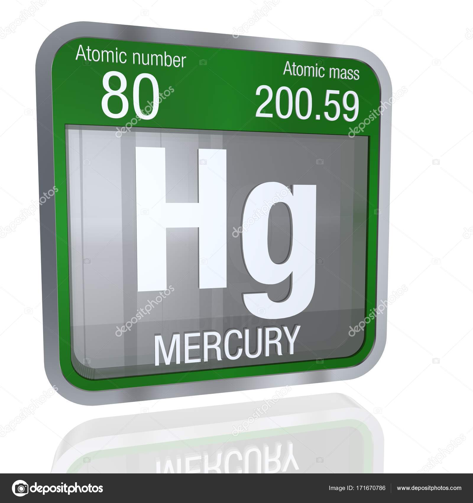 Smbolo de mercurio en forma cuadrada con borde metlico y fondo smbolo de mercurio en forma cuadrada con borde metlico y fondo transparente con reflejo en el piso 3d render elemento nmero 80 de la tabla peridica de urtaz Gallery