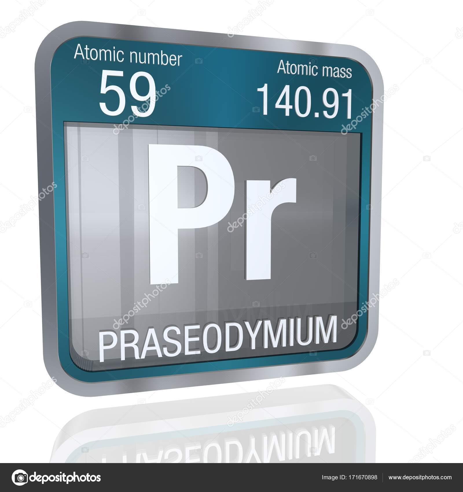 Smbolo del praseodimio en forma cuadrada con borde metlico y fondo 3d render elemento nmero 59 de la tabla peridica de los elementos qumica foto de alejomiranda urtaz Gallery