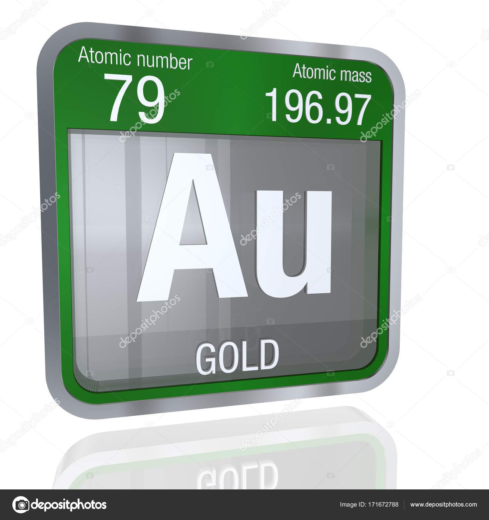 Gold symbol in square shape with metallic border and transparent gold symbol in square shape with metallic border and transparent background with reflection on the floor 3d render element number 79 of the periodic table urtaz Image collections