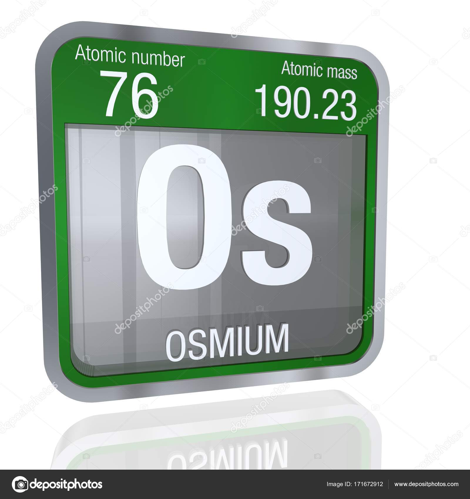 Osmium symbol in square shape with metallic border and transparent osmium symbol in square shape with metallic border and transparent background with reflection on the floor 3d render element number 76 of the periodic urtaz Choice Image