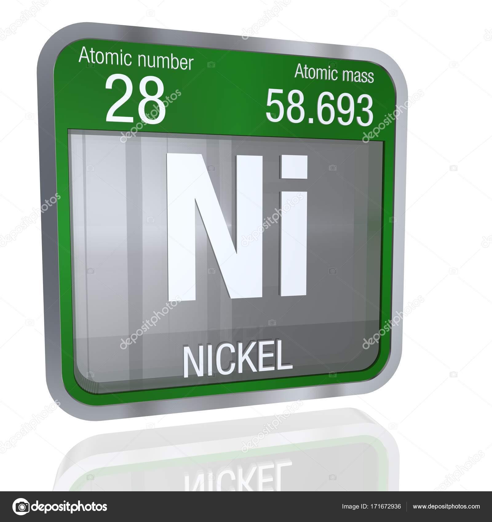 Smbolo de nquel en forma cuadrada con borde metlico y fondo elemento nmero 28 de la tabla peridica de los elementos qumica foto de alejomiranda urtaz Choice Image